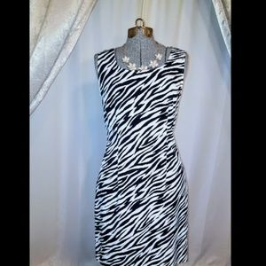 SAG HARBOR Zebra Print Dress EUC size 8
